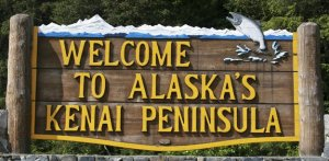 Kenai Peninsula Welcome Sign