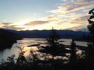 Sunrise while dipnetting the Copper River