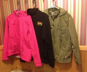 The three jackets I take with me on every trip!