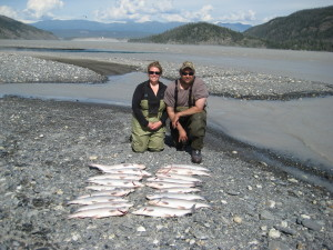 Our first time dipnetting on the Copper River.  Summer 2013.