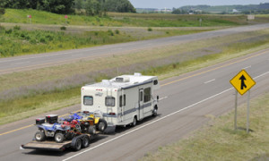 When you're towing you have to think about extra parts for your trailer.  Courtest of Curtmfg.com