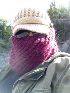 You never know when that scarf will come in handy as a head net.  Its a fashionable accessory and has functionality.