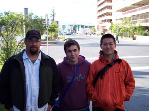 3 friends from across the globe meet in Anchorage, Alaska.  Ben, Hydin, & Hiroshi.