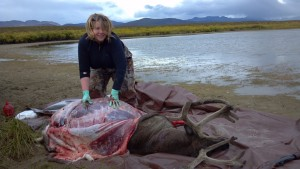 Caping and quartering our 2012 caribou harvest.