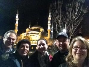 A group  selfie.