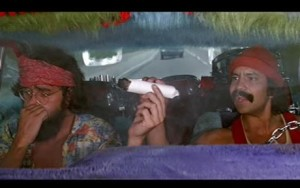 "Photo of Cheech and Chong in ""Up In Smoke"""