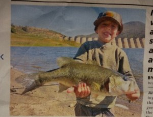 Wyatt's Large Mouth Bass caught in California.