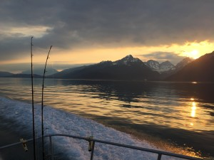 A beautiful sunrise on Resurrection Bay.