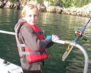 Fishing for silver salmon in Pony Cove.