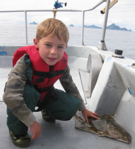 Wyatt and his Halibut.